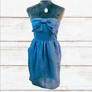 EVERLY Strapless mini dress
